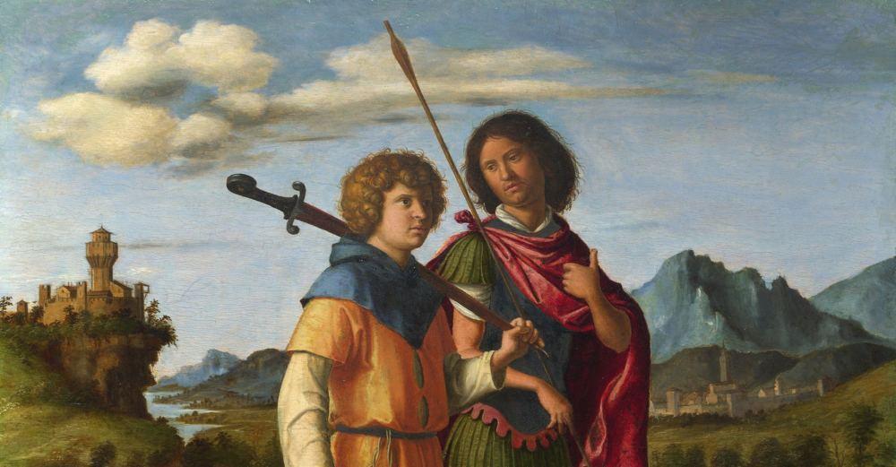 Gemälde David und Jonathan