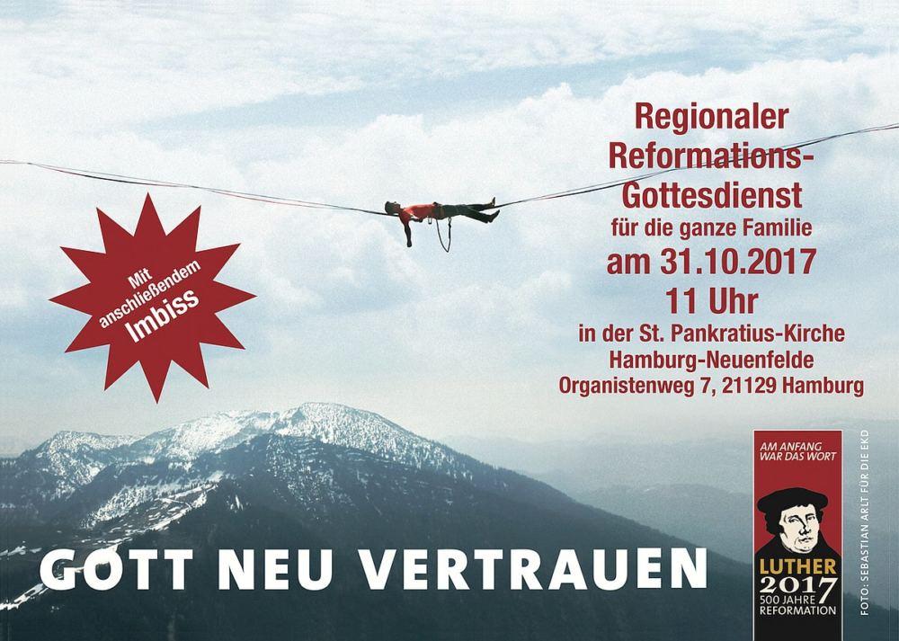 Plakat zum Reformationsgottesdienst