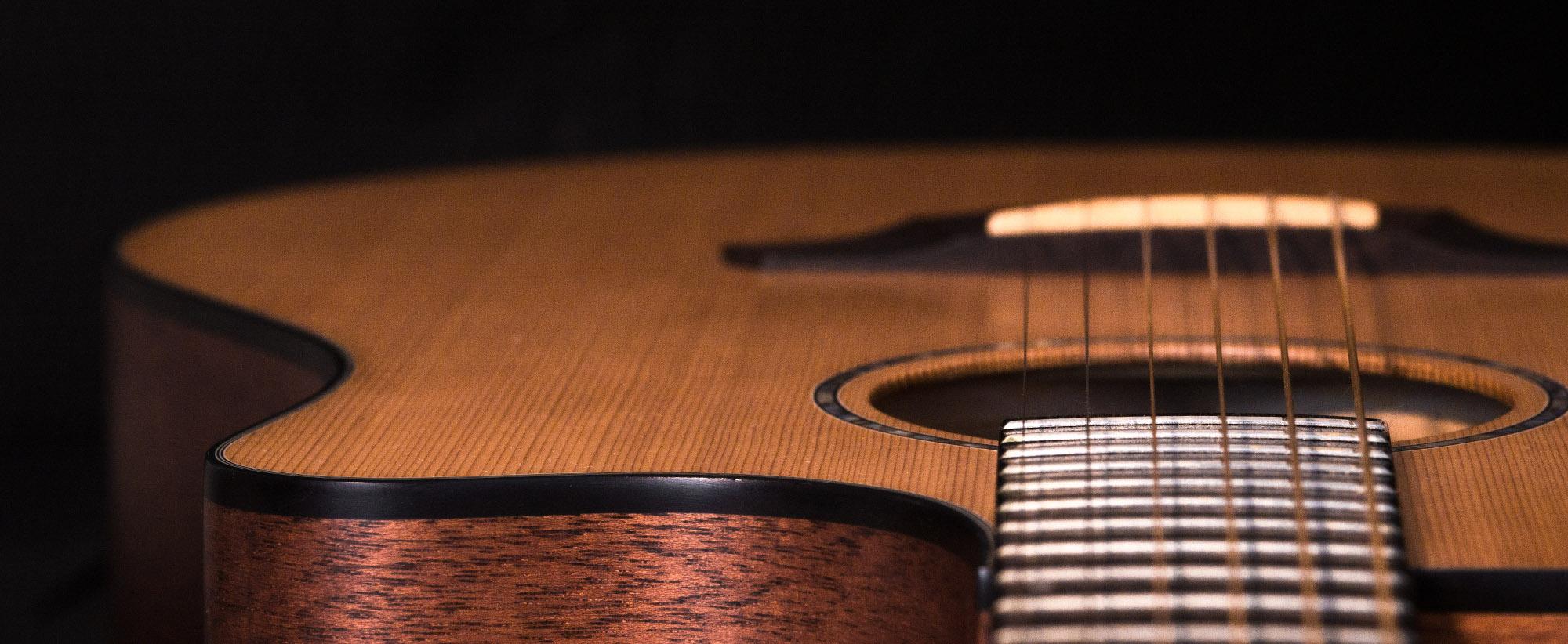 Detailansicht Gitarre